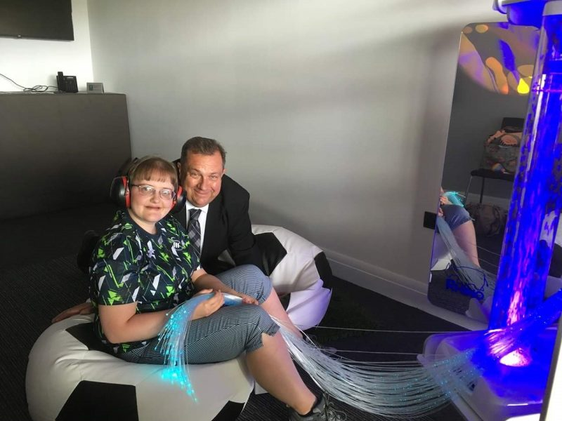 Swansea City trial new sensory room at the Liberty Stadium