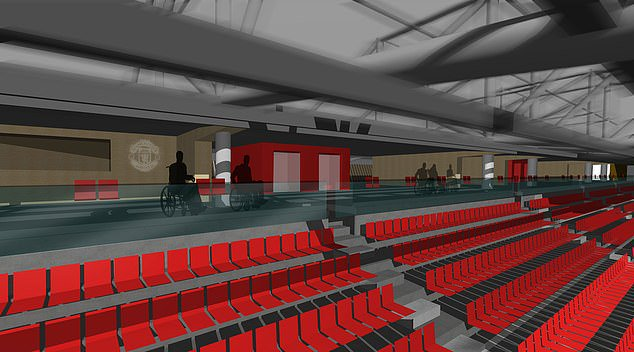 Manchester United - Stretford End accessibility improvements (Image: StadiumDB)