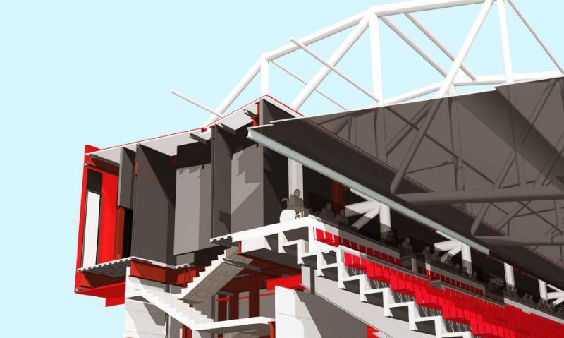 Manchester United - Stretford End accesibility improvement (Image: StadiumDB)