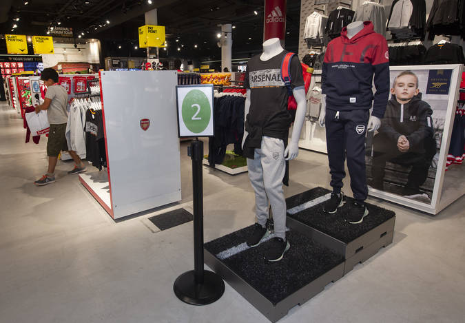 Clear signposting introduced during sensory hour in Arsenal Club Shop