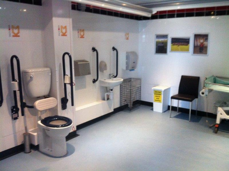 Changing Places facility at MK Dons' Stadium MK.